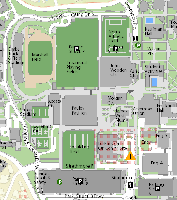 ucla interactive campus map Parking Ucla Women S Basketball ucla interactive campus map